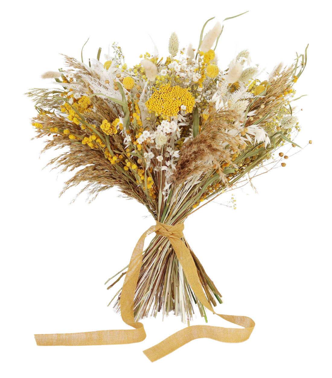 Mimosa Bridal Bouquet preserved and dried wedding flowers by Shida Preserved Flowers