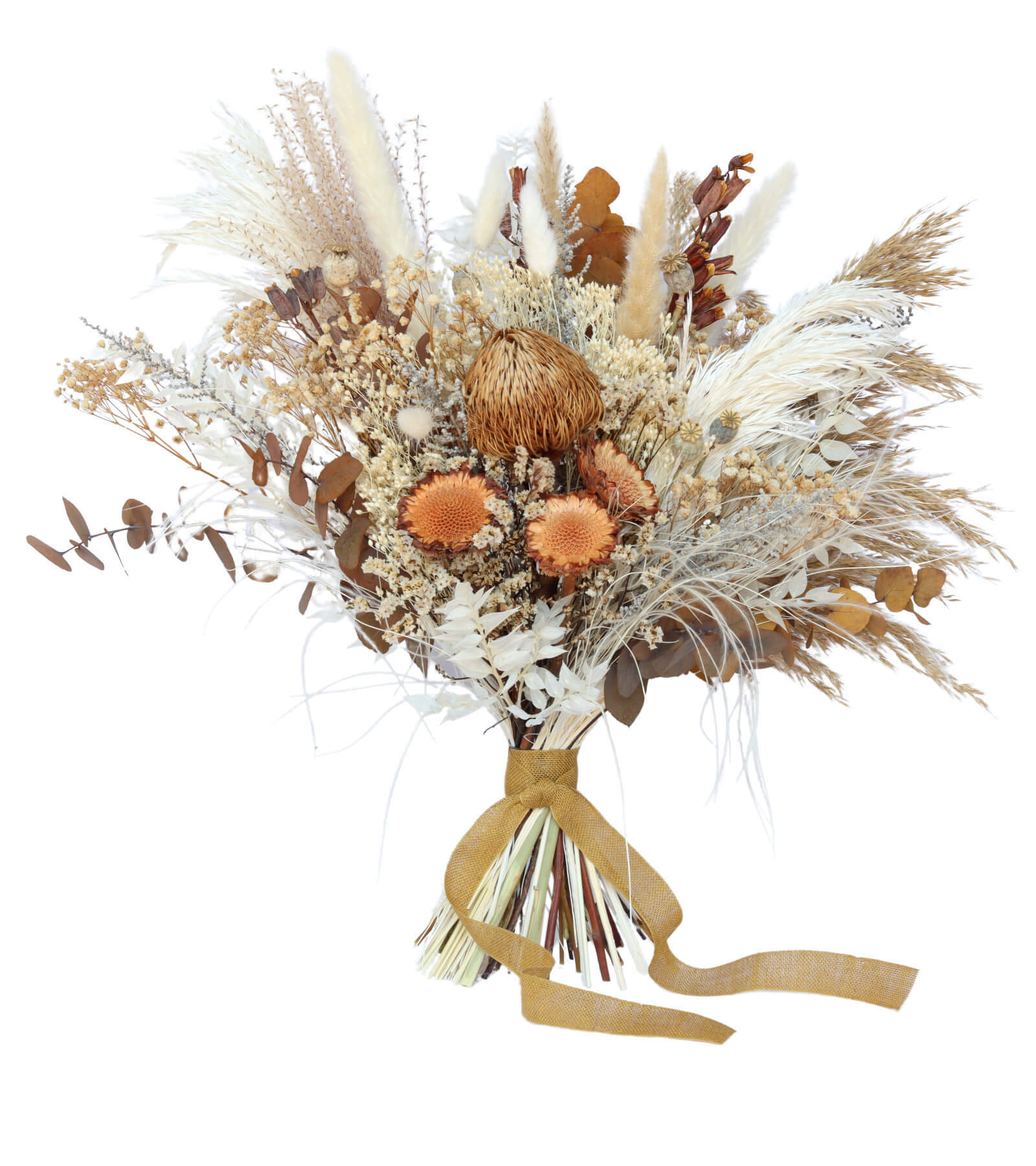 Desert Bloom Bridal Bouquet preserved and dried wedding flowers by Shida Preserved Flowers