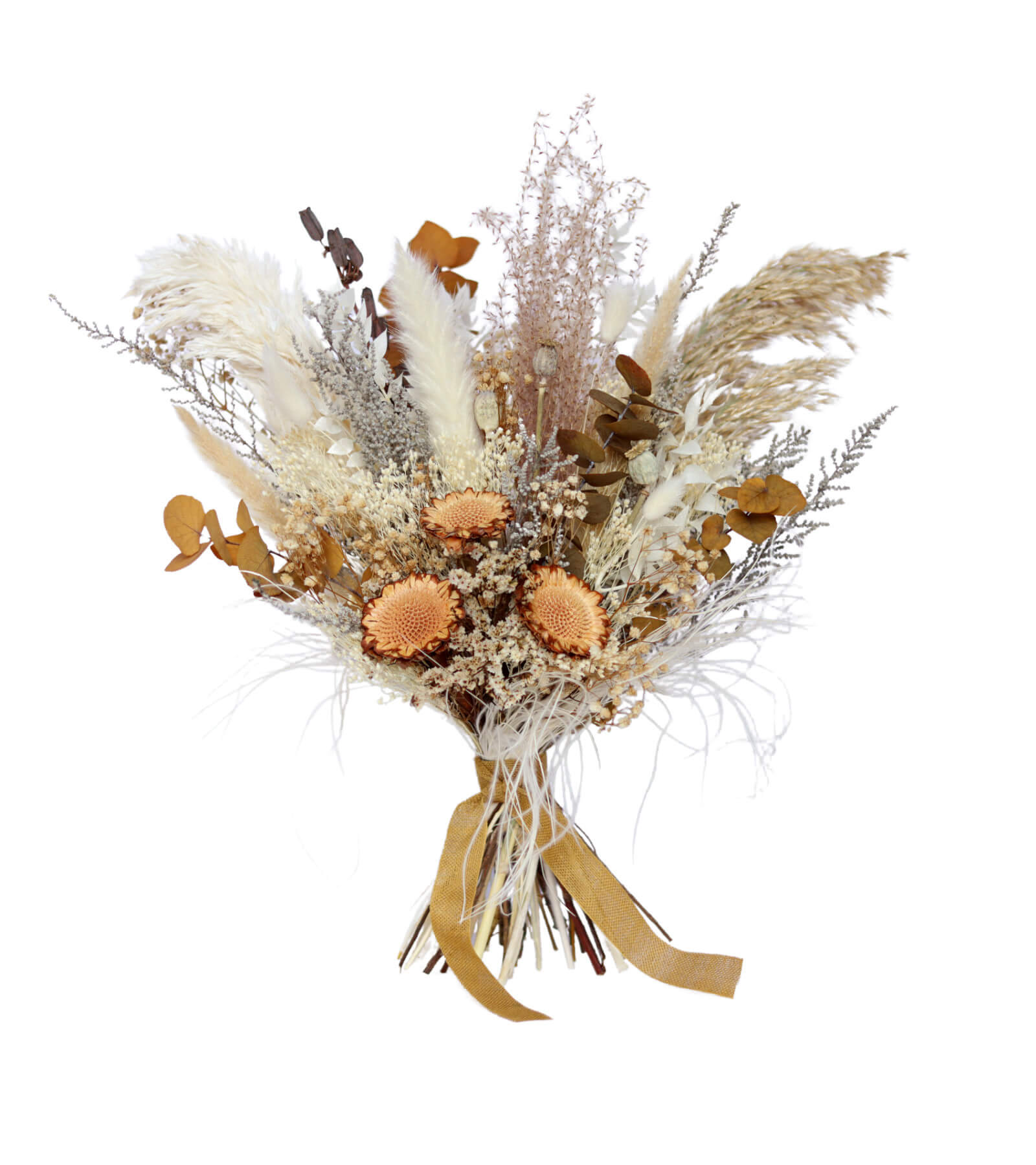 Desert Bloom Bridesmaid Bouquet preserved and dried wedding flowers by Shida Preserved Flowers
