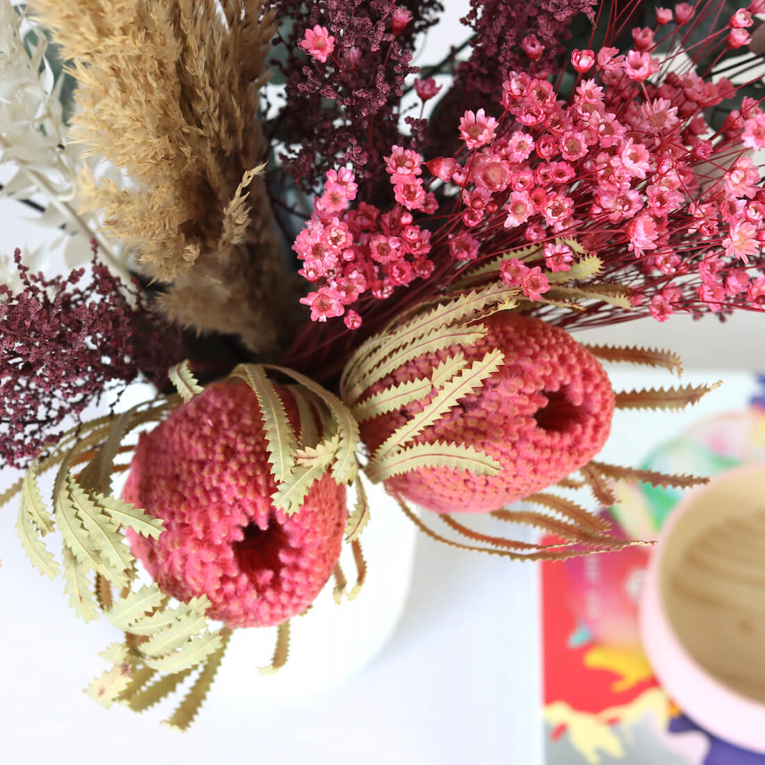 Marnie preserved and dried flower bouquet by Shida Preserved Flowers
